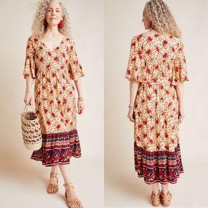 NWT Anthropologie x Faithfull Melia Midi Dress